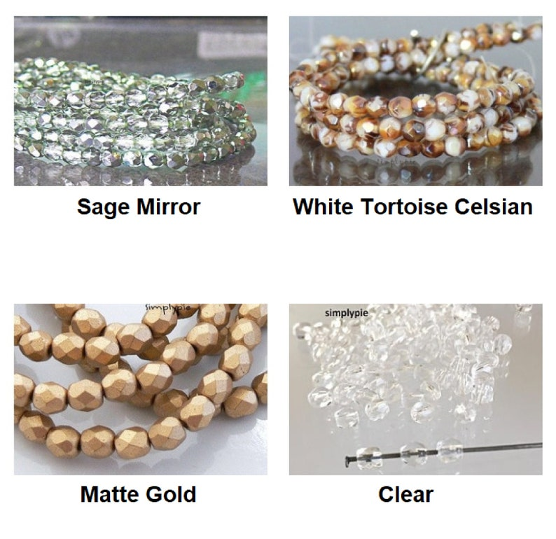 Fire Polished Czech Glass Beads 4mm 50 Ur Pick Matte Gold Silver Copper Pink Ultramarine Halo Pink Celsian Teal Blue Yellow