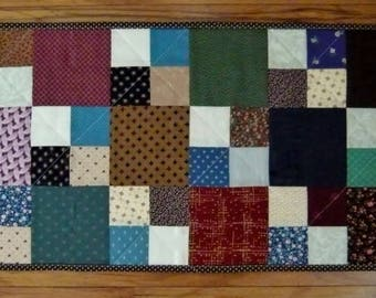Quilted Scrappy Country Patchwork Table Runner