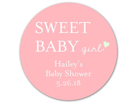 Personalized Baby Shower Labels Custom Baby Shower Stickers Etsy