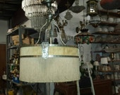 Original Gothic Revival Fringed Chandelier Reduced Price