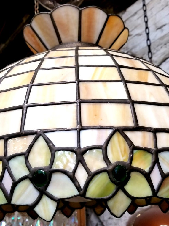 Vintage Stained Glass Lamp Tiffany Style Hanging Lamp Tiffany Pendant Light