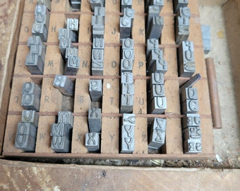 Cast letters for gold leaf hot stamping bookbinding