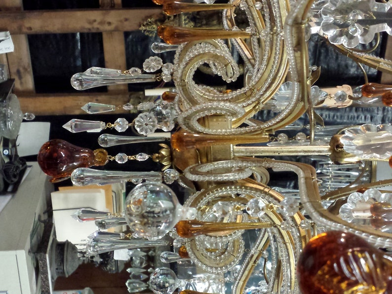 Italian Crystal Chandelier Vintage Crystal Chandelier