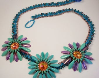 Twist of Spring Bead Woven Necklace