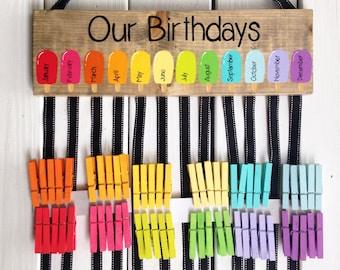 Teacher SET Birthday Chart Teachername Sign Classroom