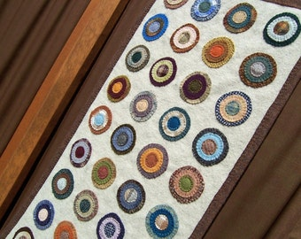 Traditional Penny Rug Wall Hanging - Pattern - #WA106