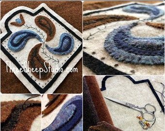 Wool Applique Pattern - Tulip and Philphlot - Pattern - #WA105