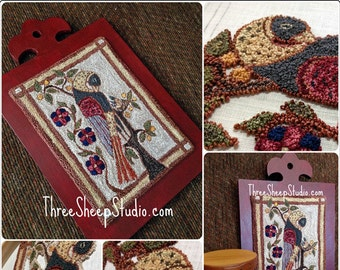 Punch Needle Pattern - A Mother's Watch Fraktur - #PN540 - Needlepunch Embroidery