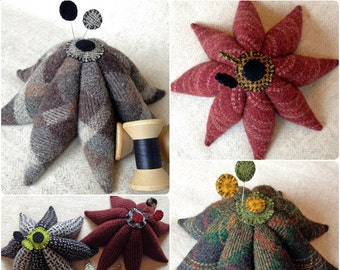 KIT - Wool Eight Pointed Civil War Pincushion KIT