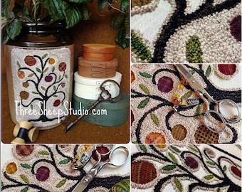 Punch Needle Pattern - Olde Orchard - #PN541 - Needlepunch Embroidery