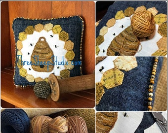 Punch Needle Pattern - The Hive - #PN565 - Needlepunch Embroidery