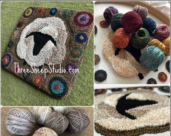Punch Needle Pattern - Primitive Penny Sheep - #PN563 - Needlepunch Embroidery