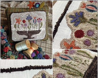Punch Needle Pattern - Always Blooming Pintuck - #PN549 - Needlepunch Embroidery