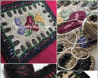 Punch Needle Pattern - Summer Garden - #PN567 - Needlepunch Embroidery