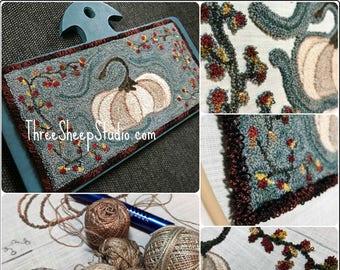Punch Needle Pattern - Lumina with Bittersweet - #PN553 - Needlepunch Embroidery