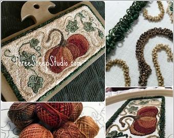Jack  o Little - Punch Needle Pattern - #PN554 - Needlepunch Embroidery