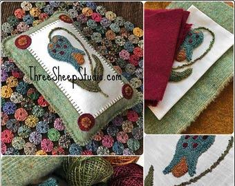 Punch Needle Pattern - Folksy Bloom - #PN561 - Needlepunch Embroidery