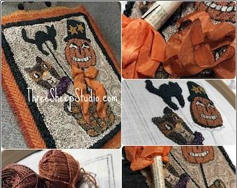 Halloween Folly - Punch Needle Pattern - #PN578 - Needlepunch Embroidery