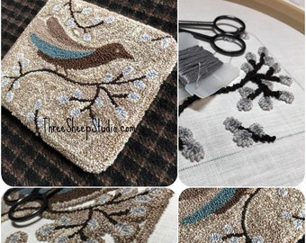Fly Away - Punch Needle Pattern - #PN600 - Needlepunch Embroidery