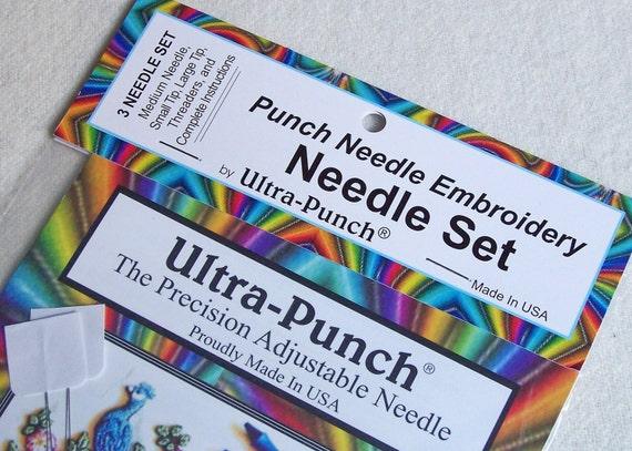 Ultra Punch Punchneedle Needlepunch Embroidery Needle Set Etsy