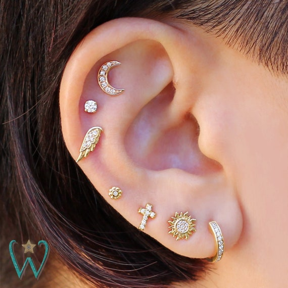 Covet Jewelry Fleur de Lis Cross Non-Piercing Ear Cuff