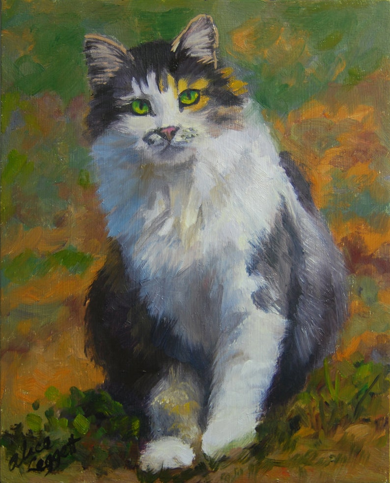 Winston 8x10 Original Oil Painting on Panel by Alice Leggett image 0