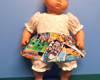 """16"""" Doll Clothes - Dress with Panties"""