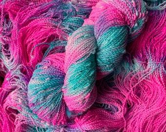 2.25 oz Sport Weight Yarn Blue Yarn Knitting Crochet Vintage Yarn Destash Red Heart Sport Yarn Cotton Yarn Bright Blue 813