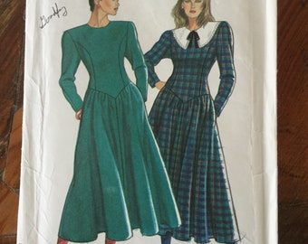 3d8821cb7e4ef8 Vintage 90s Sewing Pattern, Romantic Dress Long Sleeve Bodice on a Full  Skirt, New Look 6881, Sizes 8-16, 90s Dress