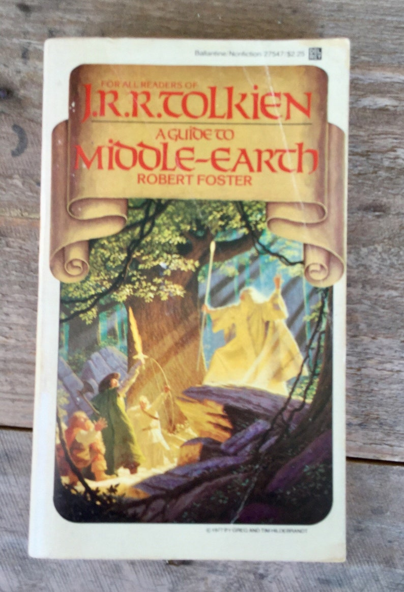 A Guide To Middle Earth By Robert Foster J R R Tolkien Lord Of The Rings Fantasy Vintage Paperback Book