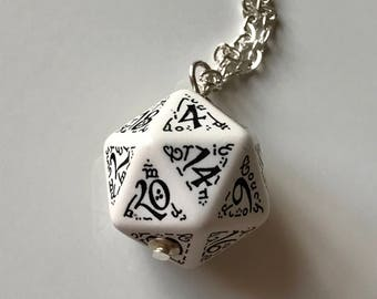 D20 dice jewelry elevn dice pendant d20 necklace dungeons and dragons christmas gift for her geek girl dungeon master stranger things dnd