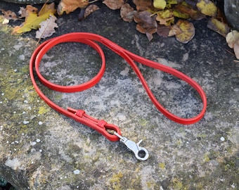 """1 m """"Equestrian"""" Leather Dog Leash - size S"""