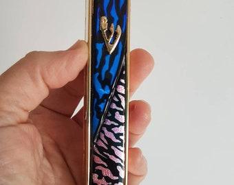 Metal and Glass Mezuzah Case, Unique Israel Artwork, Jewish Housewarming  And Wedding Gift, Bat / Bar Mitzva Gift,