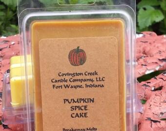 Pumpkin Spice Cake 3 or 6 ounce Soy Breakaway Melt