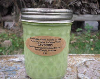 Christmas Candle Bayberry 8 oz Soy Candle