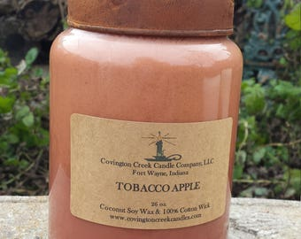 Tobacco Apple 26 ounce Soy Candle