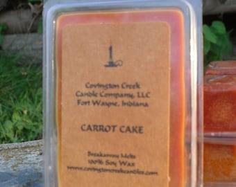 Carrot Cake 3 or 6 ounce Soy Breakaway Melt.