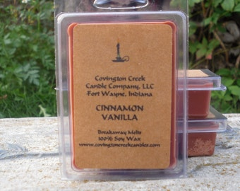 Cinnamon Vanilla Soy 3 or 6 ounce  Breakaway Melt