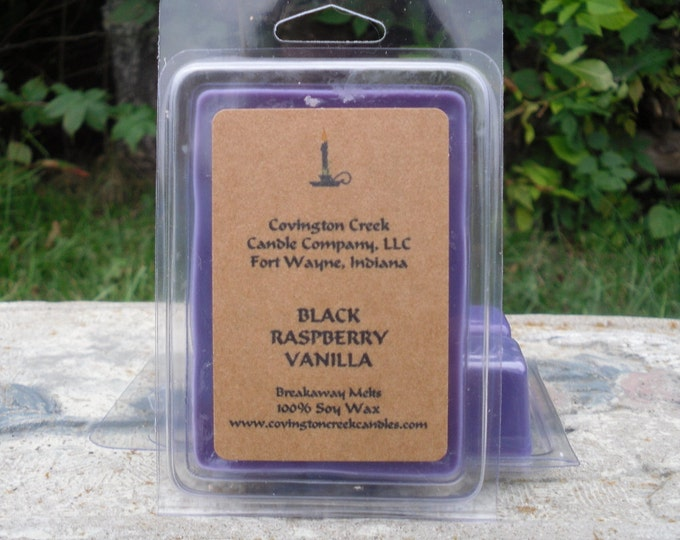 Featured listing image: Black Raspberry Vanilla 3 or 6 ounce Soy Breakaway Melts. Summer Scemt. Spring Scent, Berry Scent, Secret Pal, Secret Santa, Teacher Gift
