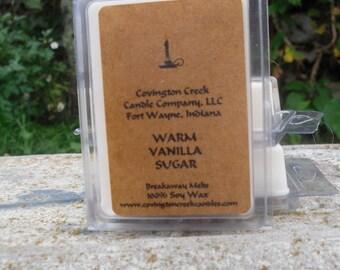 Warm Vanilla Sugar 3 or 6 ounce Soy Breakaway Melt.
