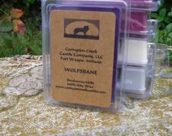 Halloween Wolfsbane 3 or 6 ounce Soy Breakaway Melt