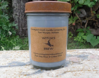 WITCH'S BREW 8 oz  Pure Soy Candle