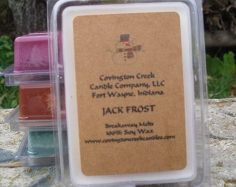 Jack Frost Peppermint 3 or 6 ounce Soy Breakaway Melt