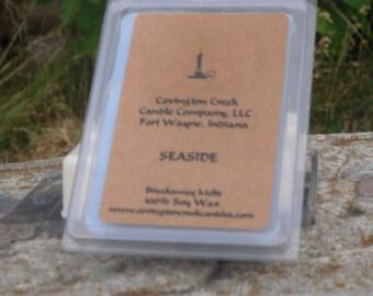 Seaside Soy 3 or 6 ounce Breakaway Melts.