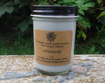 Cider Web 8 oz  Pure Soy Candle from Covington Creek Candle Company