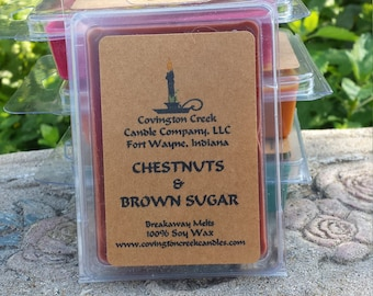 Chestnuts and Brown Sugar 3 or 6 ounce Soy Breakaway Melt