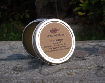 HERBAL SALVE Unscented.  Hemp Oil, Frankincense, Myrrh, Comfrey and Dandolien Root Powders and Tree Tea Oil.