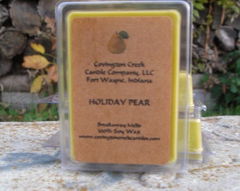 Holiday Pear Pure Soy 3 or 6 ounce Breakaway Melt