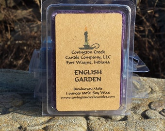 English Garden 3 or 6 ounce Soy Breakaway Melt