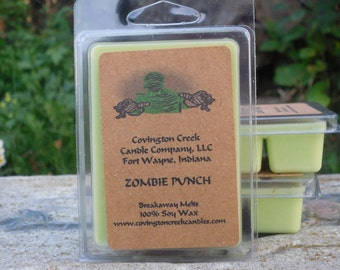 Zombie's Punch 3 or 6 ounce Soy Breakaway Melt